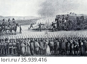 Burning of English imported manufactured goods in Frankfurt Germany 1810. Редакционное фото, агентство World History Archive / Фотобанк Лори