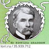 Sir Edward Nicholas Coventry Braddon, Australian politician, Premier of Tasmania. Редакционное фото, агентство World History Archive / Фотобанк Лори