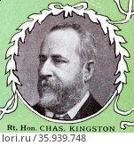 Charles Cameron Kingston, Australian politician, liberal Premier of South Australia serving from 1893 to 1899, Редакционное фото, агентство World History Archive / Фотобанк Лори