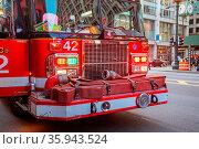 Chicago, USA - August 13th, 2015: Chicago Metropolitan fire truck... Стоковое фото, фотограф Zoonar.com/Chris Putnam / easy Fotostock / Фотобанк Лори