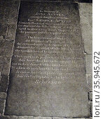 Tombstone of Jane Austen at Winchester Cathedral. Редакционное фото, агентство World History Archive / Фотобанк Лори