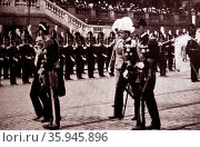 President Raymond Poincaré and King Gustaf V of Sweden. Редакционное фото, агентство World History Archive / Фотобанк Лори