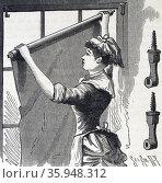 W.J. Mullen's roller blind fixture. (2013 год). Редакционное фото, агентство World History Archive / Фотобанк Лори