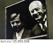 German Chancellor, Heinrich Brüning (right) travelled to Paris to meet Pierre Laval. Редакционное фото, агентство World History Archive / Фотобанк Лори