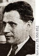 Photographic portrait of Marcel Mihalovici. Редакционное фото, агентство World History Archive / Фотобанк Лори