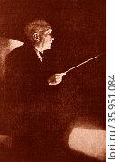Photograph of Richard Strauss. Редакционное фото, агентство World History Archive / Фотобанк Лори
