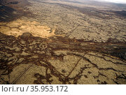 interaction of tectonic plates drifting apart can easily be observed above sea level in Iceland. (2016 год). Редакционное фото, агентство World History Archive / Фотобанк Лори