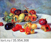 Painting titled 'Fruits of the Midi' by Pierre-Auguste Renoir. Редакционное фото, агентство World History Archive / Фотобанк Лори