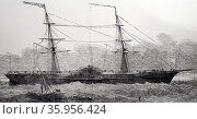 Portrait of John Ericsson's caloric or hot air ship (2016 год). Редакционное фото, агентство World History Archive / Фотобанк Лори