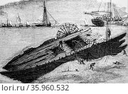 Illustration depicting divers examining the wreck of the 'Royal Adelaide' (2016 год). Редакционное фото, агентство World History Archive / Фотобанк Лори