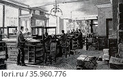 The offices of the Publisher, George Newnes, 1892. Редакционное фото, агентство World History Archive / Фотобанк Лори