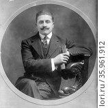 Manuel Ugarte (1875–1951) was an Argentine author, Редакционное фото, агентство World History Archive / Фотобанк Лори