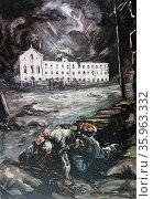 painting of the Siege of Gijón. Редакционное фото, агентство World History Archive / Фотобанк Лори