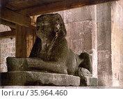 Spalato, sphinx on Diocletian's Mausoleum, Dalmatia, Austro-Hungary, Редакционное фото, агентство World History Archive / Фотобанк Лори
