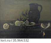 Still Life with grapes and pears 1938, By Andre Derain (1880 – 1954) Редакционное фото, агентство World History Archive / Фотобанк Лори