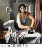 Woman ironing by Roberto Fernández Balbuena. Редакционное фото, агентство World History Archive / Фотобанк Лори