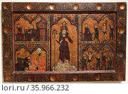 Frontal depicting the childhood of Jesus by Anonymous. Редакционное фото, агентство World History Archive / Фотобанк Лори