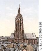 Frankfurt Cathedral (Frankfurter Dom) Редакционное фото, агентство World History Archive / Фотобанк Лори