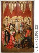 Jaume Huguet (1412–1492) Calvary. Altar de Sant Miquel. Редакционное фото, агентство World History Archive / Фотобанк Лори