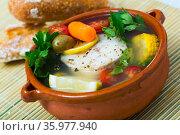 Recipe of pottage of fisherman. Стоковое фото, фотограф Яков Филимонов / Фотобанк Лори