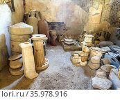 House of Menander (Casa del Menandro) - Pompeii archeological site... Стоковое фото, фотограф Stefano Ravera / age Fotostock / Фотобанк Лори