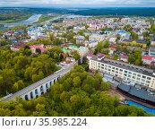 Kaluga cityscape with stone viaduct. Стоковое фото, фотограф Яков Филимонов / Фотобанк Лори