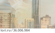 Composition of watermark over modern city buildings. Стоковое фото, агентство Wavebreak Media / Фотобанк Лори