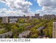 Aerial view of Moscow, Russia. Стоковое фото, фотограф Владимир Журавлев / Фотобанк Лори