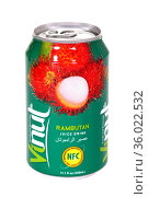 Vinut Rambutan Juice Drink. Редакционное фото, фотограф Art Konovalov / Фотобанк Лори