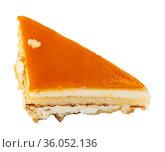 Slice of delicious cheesecake with fruity sauce. Стоковое фото, фотограф Яков Филимонов / Фотобанк Лори