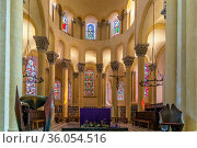 Basilica of Notre-Dame du Port is a Romanesque basilica, formerly... Стоковое фото, фотограф Zoonar.com/Boris Breytman / easy Fotostock / Фотобанк Лори