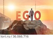 Concept of ego with businessman. Стоковое фото, фотограф Elnur / Фотобанк Лори