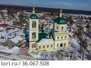 Московская область, Верея, церковь Константина и Елены. Редакционное фото, фотограф glokaya_kuzdra / Фотобанк Лори