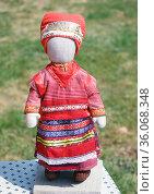 Традиционная рязанская кукла (2013 год). Редакционное фото, фотограф Инна Грязнова / Фотобанк Лори