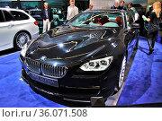 FRANKFURT - SEPT 14: BMW Alpina B6 Bi-Turbo Coupe presented as world... Стоковое фото, фотограф Zoonar.com/Dmitry Orlov / age Fotostock / Фотобанк Лори