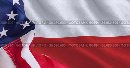 Composition of folded, crumpled american flag background