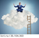Businessman in ambition and motivation concept. Стоковое фото, фотограф Elnur / Фотобанк Лори