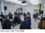 """Inauguration of the Biomedical Centre at the University Hospital Bonn, North Rhine-Westphalia, Germany"" Редакционное фото, агентство Caro Photoagency / Фотобанк Лори"