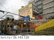 Street Art Hinterhof im Sanierungsgebiet hinter dem hauptbahnhof ... Стоковое фото, фотограф Zoonar.com/Robert B. Fishman / age Fotostock / Фотобанк Лори