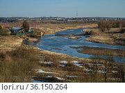 Московская область, Можайск, русло Москвы-реки весной. Стоковое фото, фотограф glokaya_kuzdra / Фотобанк Лори