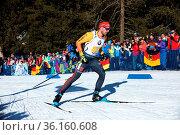 Arnd Peiffer (Clausthal-Zellerfeld) im Anstieg zur Huber Alm beim... Стоковое фото, фотограф Zoonar.com/Joachim Hahne / age Fotostock / Фотобанк Лори