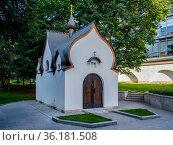 Москва, часовня в Марфо-Мариинской обители сестер милосердия (2020 год). Редакционное фото, фотограф glokaya_kuzdra / Фотобанк Лори