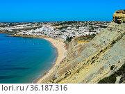 Blick auf Praia de Luz an der Algarve Küste, Portugal / View at Praia... Стоковое фото, фотограф Zoonar.com/G Fischer / age Fotostock / Фотобанк Лори
