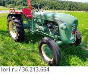 Bucher Typ T 12001, Traktoren, Oldtimer. Стоковое фото, фотограф Zoonar.com/Manfred Ruckszio / easy Fotostock / Фотобанк Лори