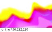 Slowly moving defocussed neon yellow and pink organic shape on white background. Стоковое фото, агентство Wavebreak Media / Фотобанк Лори