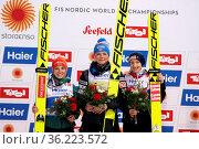 Sie hatten gut lachen: Die Medaillengewinnterinnen nach dem Einzelwettkampf... Стоковое фото, фотограф Zoonar.com/Joachim Hahne / age Fotostock / Фотобанк Лори