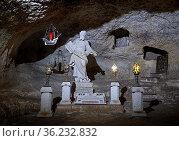Legendäre Paulus-Grotte in den gleichnamigen Katakomben, Rabat, Malta. Стоковое фото, фотограф Zoonar.com/Erich Teister / age Fotostock / Фотобанк Лори