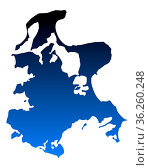 Karte von Rügen - Map of Ruegen. Стоковое фото, фотограф Zoonar.com/Robert Biedermann / easy Fotostock / Фотобанк Лори