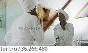Portrait of african american attractive woman applying face cream in bathroom. Стоковое видео, агентство Wavebreak Media / Фотобанк Лори