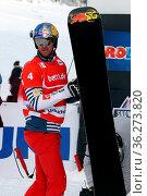 Pierre VAULTIER (FRA) beim FIS Weltcup Snowboard SBX Feldberg - Samstag. Стоковое фото, фотограф Zoonar.com/Joachim Hahne / age Fotostock / Фотобанк Лори
